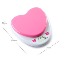 Household Pink  5Kg/1G LED Glass Kitchen Scale