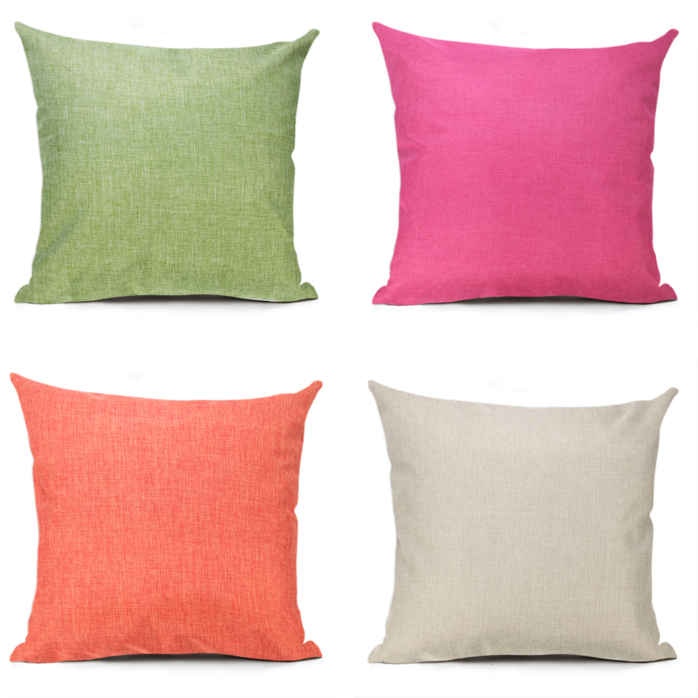 Homing Vintage Solid Color Cotton Linen Cushion Cover Modern Minimalist Sofa Chair Decorative Throw Pillow Case for Home Decor
