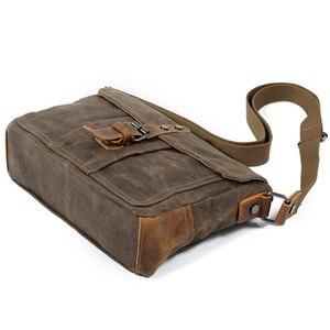 Image 5 - ABDB Crossbody erkek omuzdan askili çanta su geçirmez kanvas çanta erkek rahat askılı çanta
