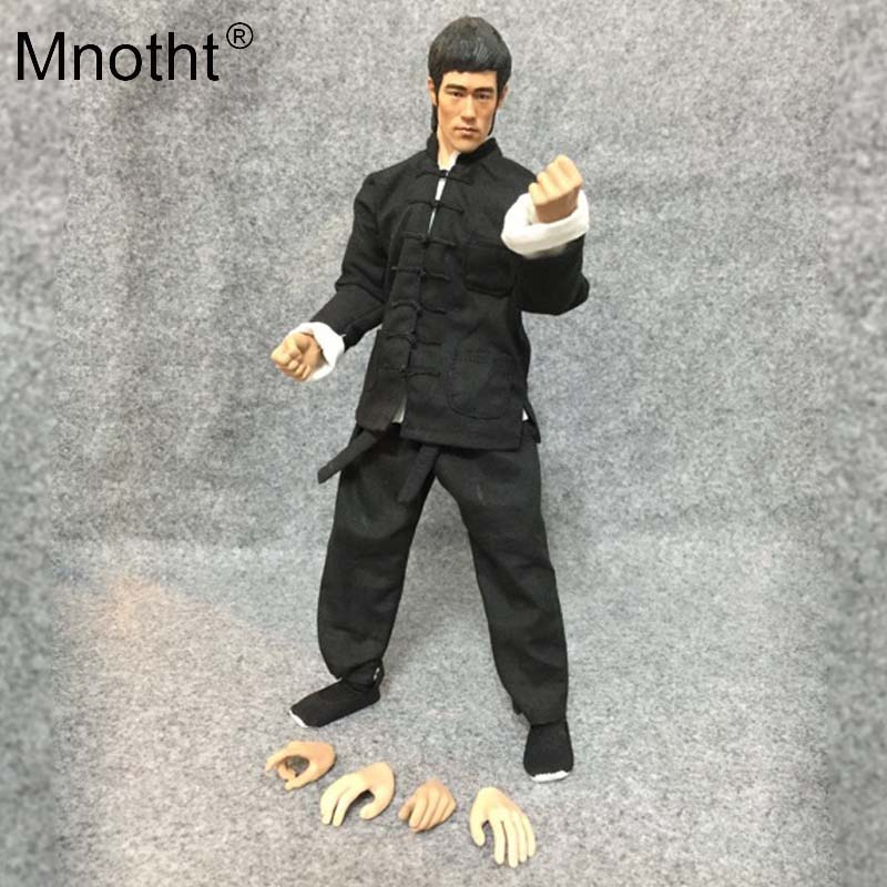 Mnotht 1/6 Scale The Big Boss Bruce Lee Black Uniforms Suit For 12in Musale Male Body Model Toys Action Figure Collection toy m3 image