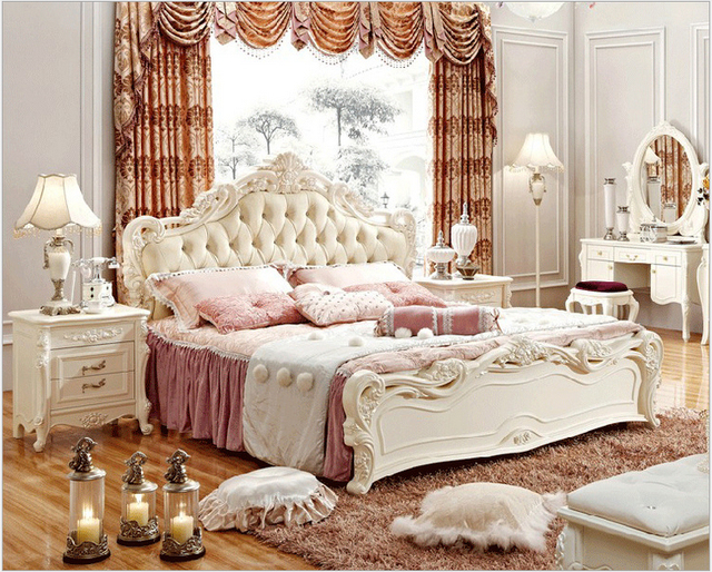 2015 New Design Luxury Bed Continental Princess Bedroom Furniture Beds 1 8 M