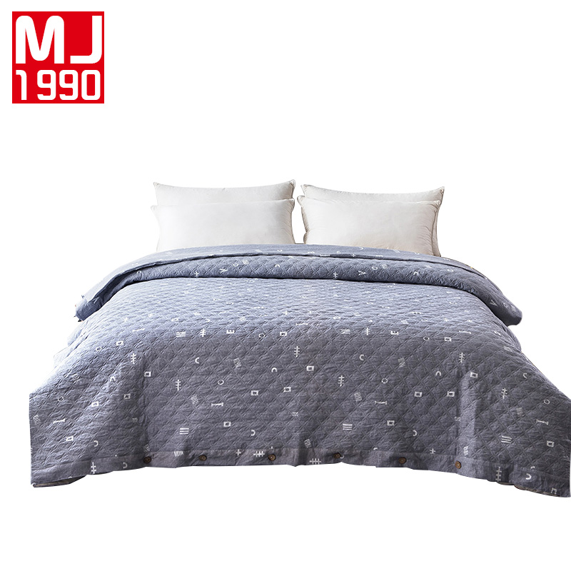 Washed Cotton Duvet Cover Quilted Style Bedspread American Pastoral Quilt Cover Super King Size 1Pcs 220x240cm Blanket Covers