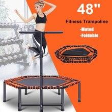 """4"""" Складной батут для упражнений, фитнес-батут для взрослых и детей, для дома, в помещении, для тренажерного зала, кардио, прыжка, для тренировок, стабильный тренировочный инструмент"""
