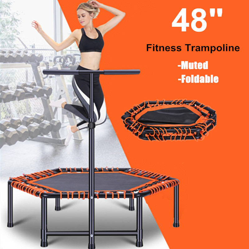 48 Foldable Exercise Fitness Trampoline Rebounder For Adults Kids