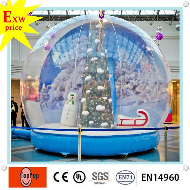 custom gemmy giant outdoor inflatable christmas decorations clear party fake snow globe ball spheres manufacturers for