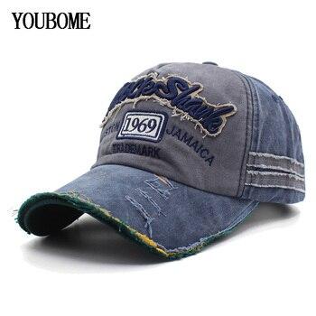 YOUBOME gorras de béisbol para hombres gorra marca Snapback Caps mujeres  Vintage bordado Casquette hueso Multicolor sombrero del papá gorras e3e31ee957f