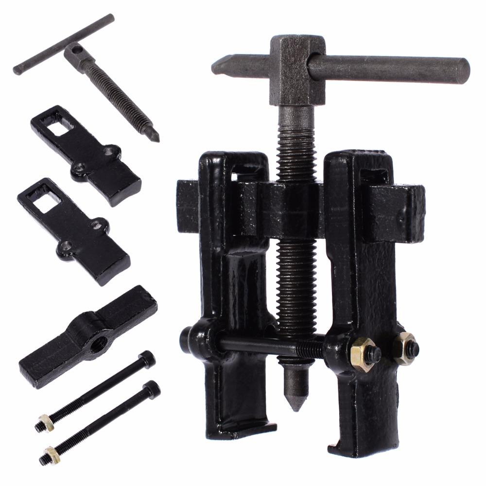 Car Two Jaw Gear Pulley Bearing Puller Black Gear Puller Installation Remover Hand Tool 2 4