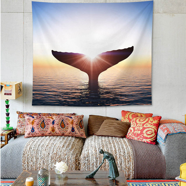 Whale Print Wall Tapestry 4