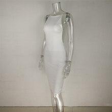 White Sexy Party Dresses Women Night Club dress backless Summer Dress Spaghetti Strap Bodycon Dress Vestidos