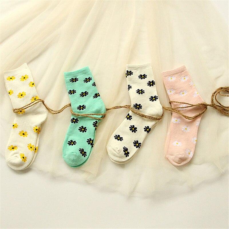 √2015 nueva moda japonesa mujeres Terry calcetines Kawaii Margarita ...