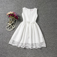 White Lace Flower Girl Wedding Party Dress Fancy Infant Princess Costume for Kids Clothes Little Girl Baby Child Holiday Dress(China)