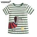 VIDMID Мальчиков Футболка 2017 лето детская одежда ребенок дна рубашки дети футболки хлопок мультфильм детская одежда автомобиль динозавров