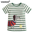 VIDMID Boys T-shirt 2017 summer  children's clothing baby bottoming shirt kids t shirts cotton cartoon baby clothes car dinosaur