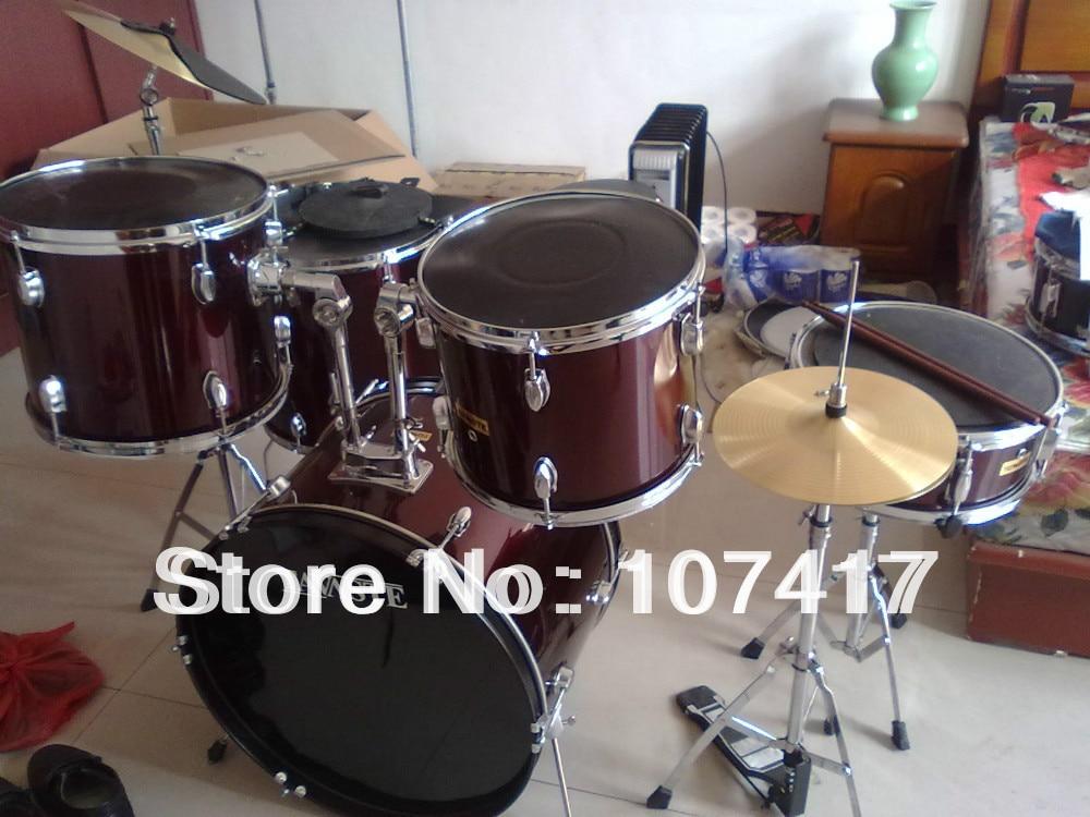2017 Ժամկետային նոր> 24 դյույմ 1286 64 Bateria Eletronica Երաժշտական հարվածային գործիքներ 5 Drum The Gaja Pad Plus Board Redwood Drumsticks