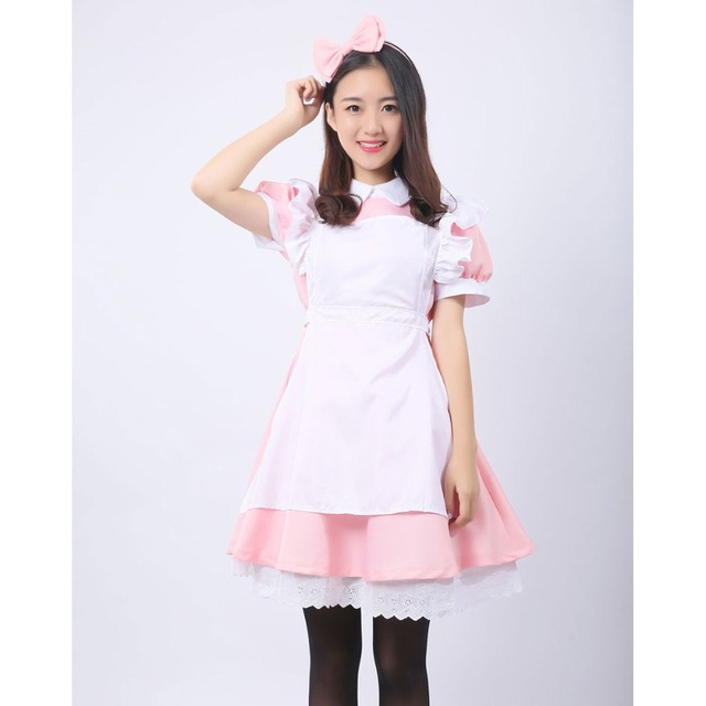 Umorden Alice in Wonderland Costume Lolita Dress Maid Cosplay Fantasia Carnival Halloween Costumes for Women 3
