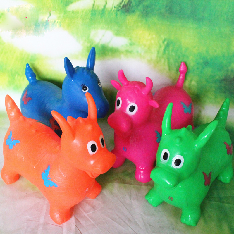 2018 Small Lovely Jumping Deer Inflatable Toy Animal Cartoon Mini Jumping Horsetoy For Children Gift Kid Health Care Toy