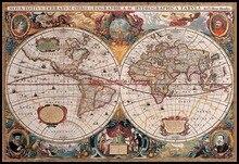 Bản đồ của Thế Giới Tính Cross Stitch Bộ Dụng Cụ Handmade TỰ LÀM May Vá Cho Thêu 14 ct Cross Stitch Bộ DMC Màu Sắc