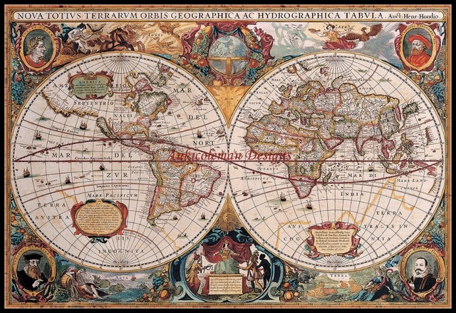 Map of the World   Counted Cross Stitch Kits   DIY Handmade Needlework For Embroidery 14 ct Cross Stitch Sets DMC Color