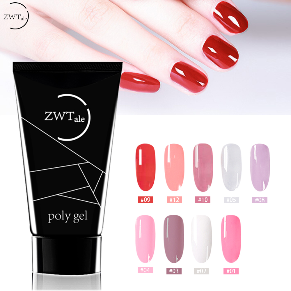 ZWTale 30g Poly Gel Finger Nail Extension Crystal Jelly Polygel UV LED Hard Acrylic Builder Slip Solution