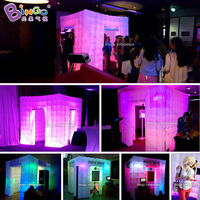 White customized inflatable photo booth tent print tent with LED light 8ft.
