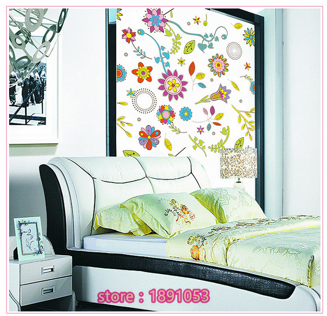 80x80 cm Tuin bloemen muurstickers slaapkamer woonkamer sofa TV kast ...