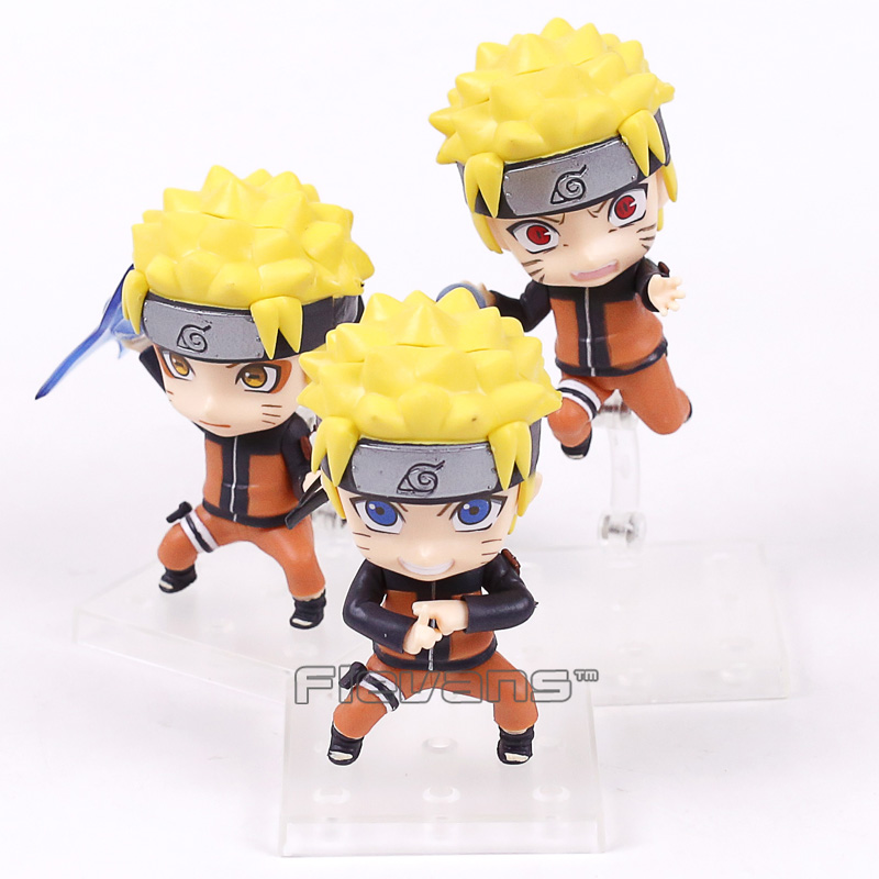 Naruto Shippuden Uzumaki Naruto PVC Figures Collectible Model Toys 3pcs/set 10cm movie kung fu panda 3 po bobble head car toys pvc figures collectible model gift 4 10cm kt1896