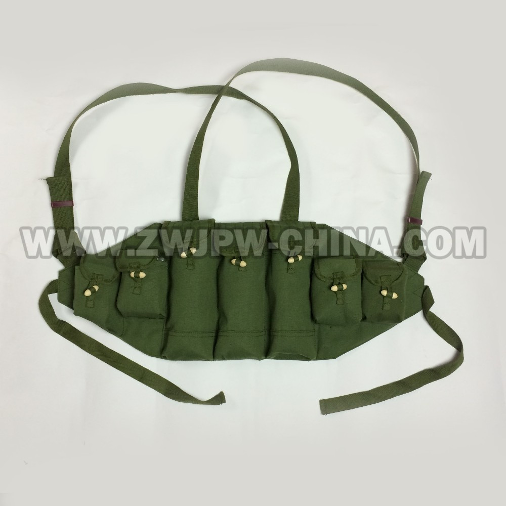REPRODUCTION CHINOIS VIETNAM GUERRE TYPE 56/AK-47 CHEST RIG GIBERNE SAC MAGAZINE POUCH CN. AW/10123
