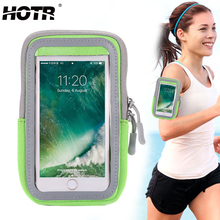 HOTR Sport Armband Pouch Bag Case Cover Full Arm Band Case for Iphone 8 7 7s 6s plus 5s for Samsung S8 S7 edge Fitness Case