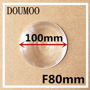 Fresnel Lens Diameter 100 mm Focal length 80 mm Fresnel Lens High light condenser DIY fresnel lens PMMA circle lens