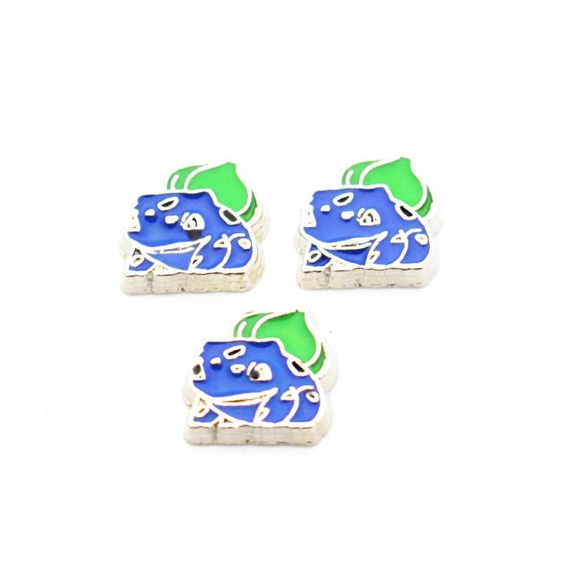 최신 10 개/몫 bulbasaur 포켓 몬스터 부동 매력 매력 유리 메모리 lockets 액세서리 diy 쥬얼리