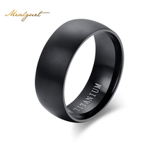 Meaeguet Treandy Real Titanium Rings For Women Men Fashion Black Vintage Rings Wedding Bands Jewelry