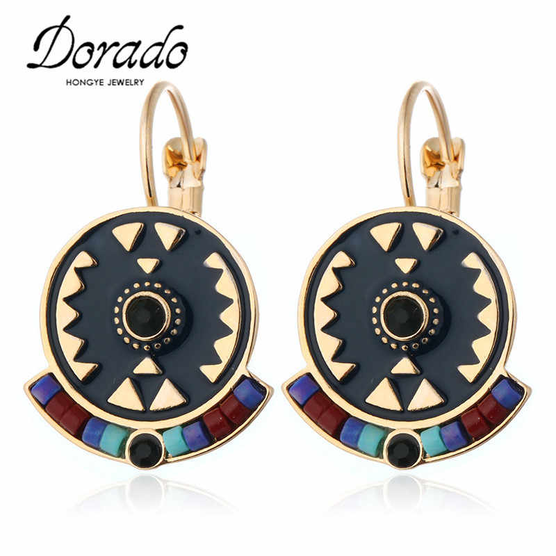 Zircon Resin Enamel Drop Earrings For Women Gold Silver Color Copper Female Dangle Hanging Earring Fashion Ear Jewelry Brincos