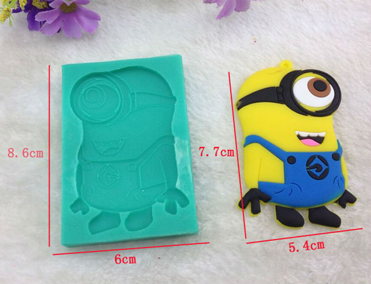 Despicable Me silicone mold Minions Kevin soap mould cake decorating
