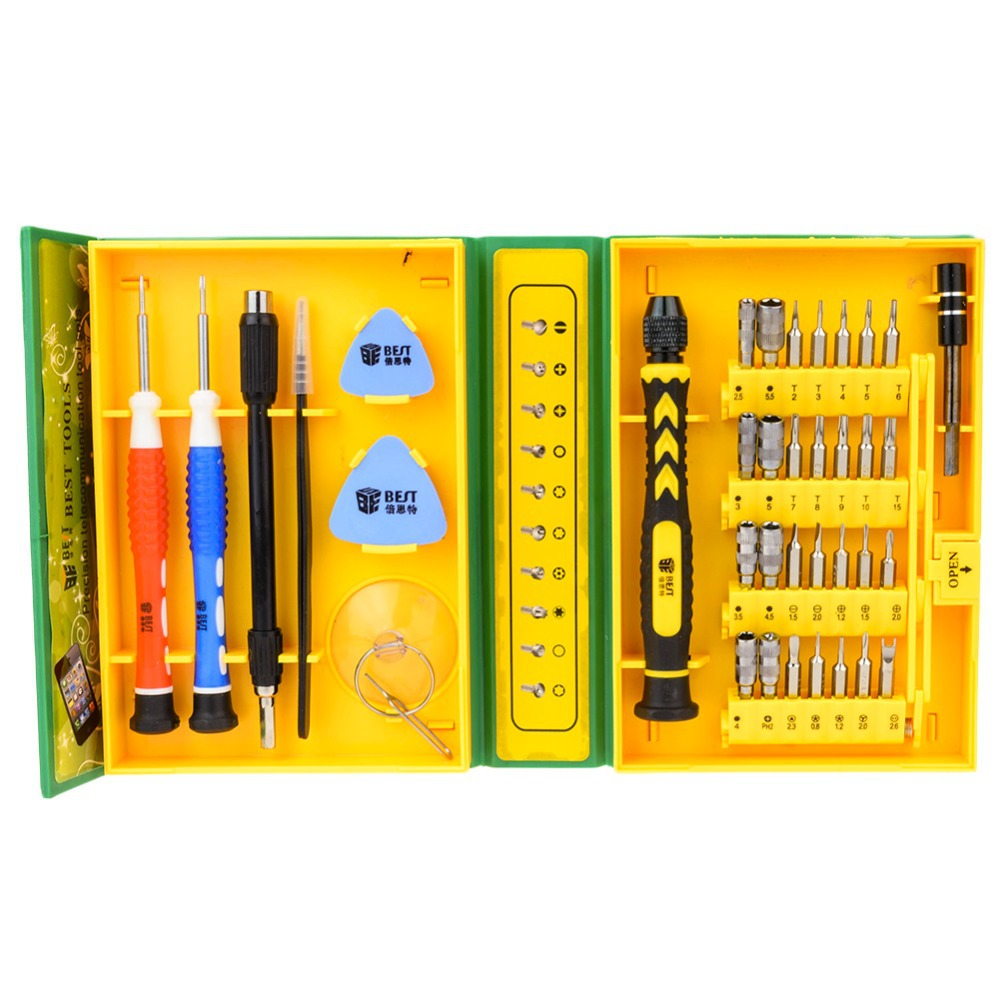 1 Satz 38 In 1 Präzision Mehrzweck Schraubendreher Repair Öffnungswerkzeug Set Für Iphone/laptop/smartphone/uhr Mit Box Fall