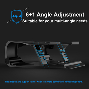 Image 2 - COOLCOLD Laptop Cooling Stand Single Fans Notebook Cooler Base Air Cooled 7 Angle Adjustable Holder for 15.6 17 Laptop Non slip