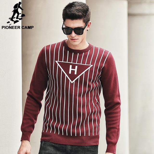 Pioneer camp camisola homens outono inverno 2017 nova marca de moda roupas de alta qualidade masculina camisola de malha e pulôveres 611218