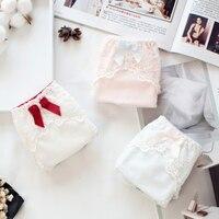 Roupa interior de algodão rendas fios macios tanga corda femme culotte femme mulheres calcinha