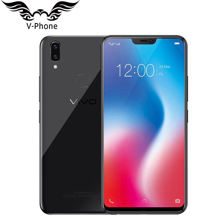 Global Version VIVO V9 4G LTE Mobile phone 4GB 64GB ROM Snapdragon 626 Octa Core 6.3 Dual Rear Camera Full Screen Android 8.1