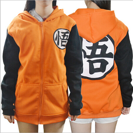 Dragon Ball Dragon Balls Z Jacket Goku Cosplay Hooded Zipper Hoodie Costume Unisex Cardigan Jacket Coat Clothes