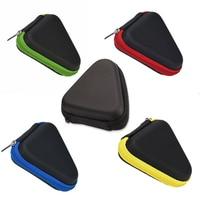1pc PU Triangle Hand Spinner Finger Storage Bag Box for travel gift case Toys earphone Storage Bag bathroom Organizer supplies