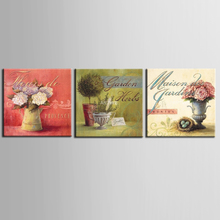 3 Pieces Canvas Picture Art Oil Painting Home Decoration paintings Print Flower for Living Room Framed /ZT-3-89