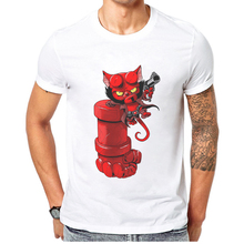 Funny Monster T Shirt Men Fighting Cartoon Printed 100 Cotton Hipster Cool Man Tops Tee Shirts Short Sleeve T-Shirt Mens Tshirts