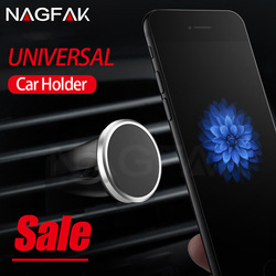 NAGFAK Car Phone Holder Magnetic Air Vent Mount Mobile Smartphone Stand Magnet Support Cell Cellphone Telephone Desk in Car GPS