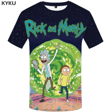 KYKU Brand Rick And Morty T Shirt Men Anime Tshirt Chinese 3d Printed T-shirt Hip Hop Tee Cool Mens Clothing 2018 New Summer Top(China)