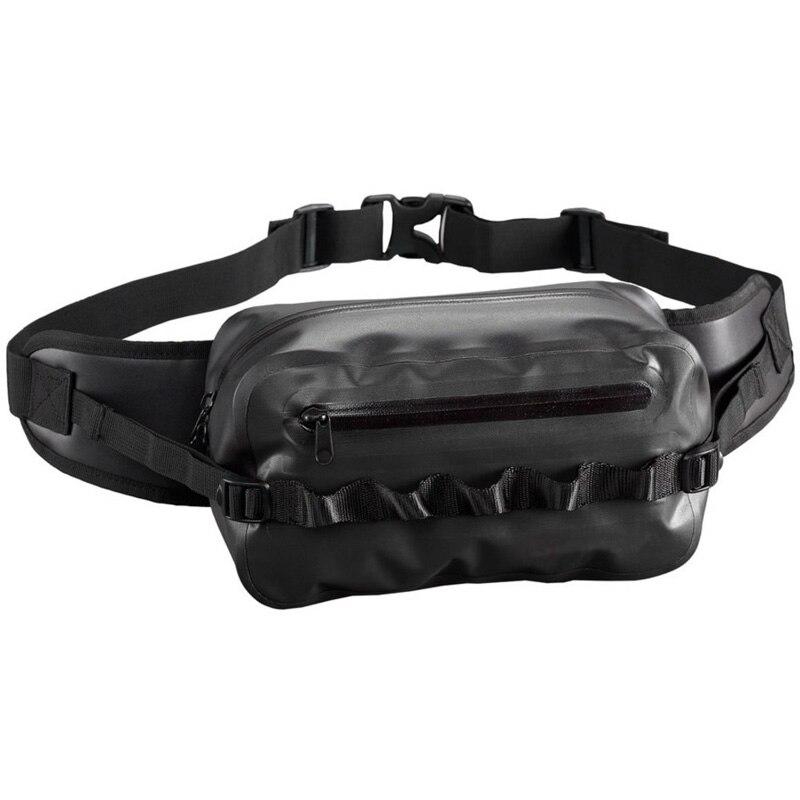 Waterproof Waist Bag Fanny Pack Black Belt Bag for Outdoor Boating Hiking Camping Cycling Walking Climbing Running Fishing Beach kayak suit