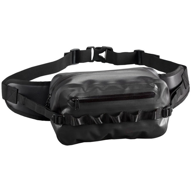 Waterproof Waist Bag Fanny Pack Black Belt Bag for Outdoor Boating Hiking Camping Cycling Walking Climbing Running Fishing Beach
