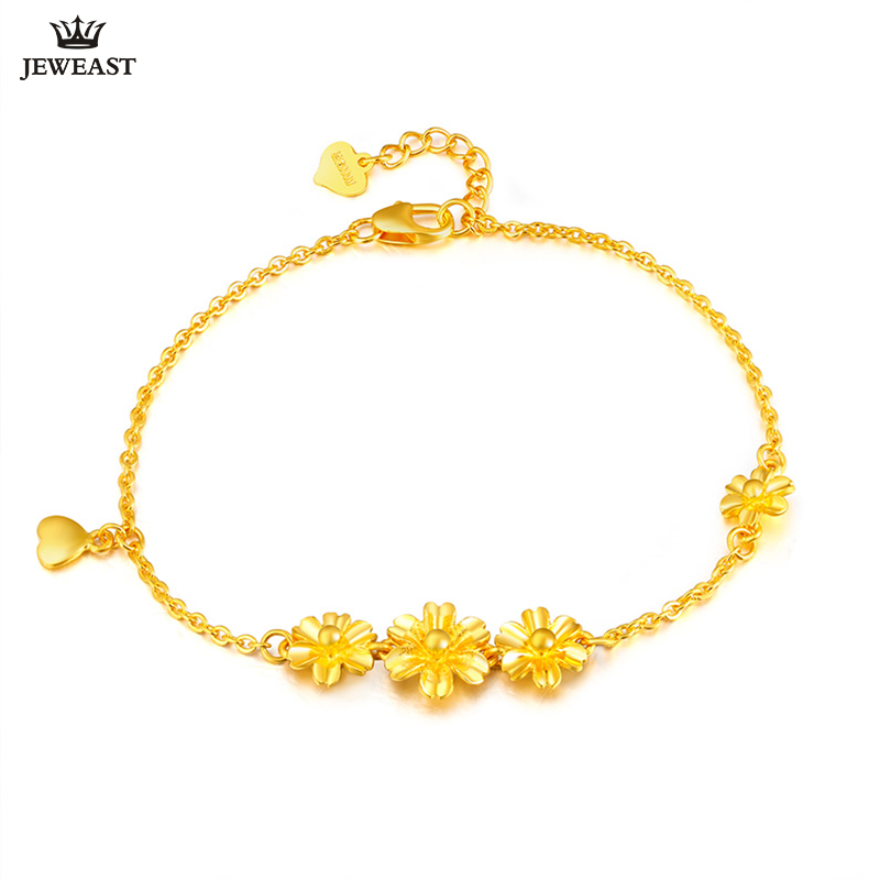 24K Pure Gold Bracelet Real 999 Solid Gold Bangle Refinement Flowers Heart Trendy Classic Party Fine Jewelry Hot Sell New 201824K Pure Gold Bracelet Real 999 Solid Gold Bangle Refinement Flowers Heart Trendy Classic Party Fine Jewelry Hot Sell New 2018