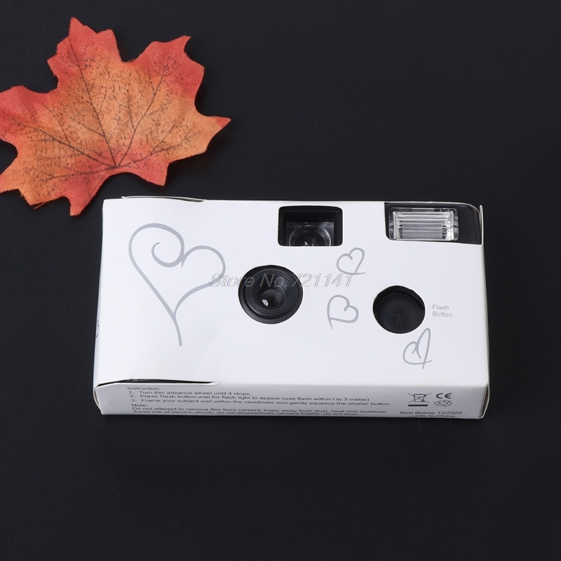 36 Photos Power Flash HD Single Use One Time Disposable Film Camera Party Gift Electronics Stocks