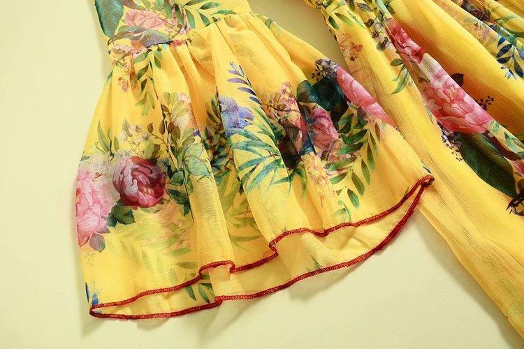 Robe Longue Imprimé Np0245c Décontracté Longues 2019 Qualité Femmes Supérieure Designer Piste Maxi Manches Robes Flare QrBoCWdxeE
