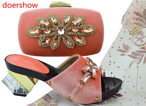 doershow Italian Shoe with Matching Bag Sets African Woman Matching Italian Shoe and Bag Set Nigerian Shoes and Bag Set !HH1-43 2018 new arrival pink color italian shoe with matching bags shoes and bag set african sets 2018 shoe and bag italian design sets